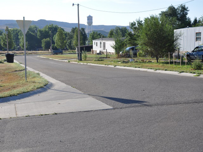 Paving of Devon Street, Railway Street, and the smaller streets between in Clearmont.