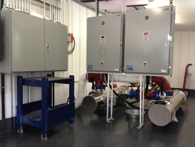 UV treatment system installed at the water plant for Dayton, per EPA regulations.