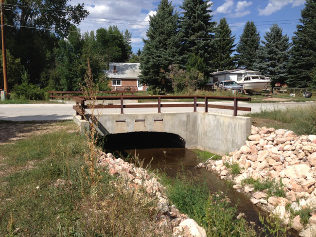 New Smith Creek Culvert at River Road and Smith Creek in Dayton. The old culvert was not large enough, which led to flooding and road closures, as well as concerns for nearby houses.