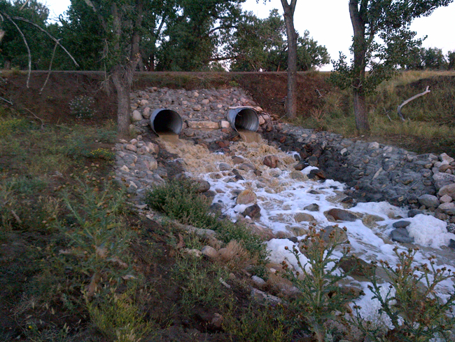 Completed culvert at Cottonwood Creek