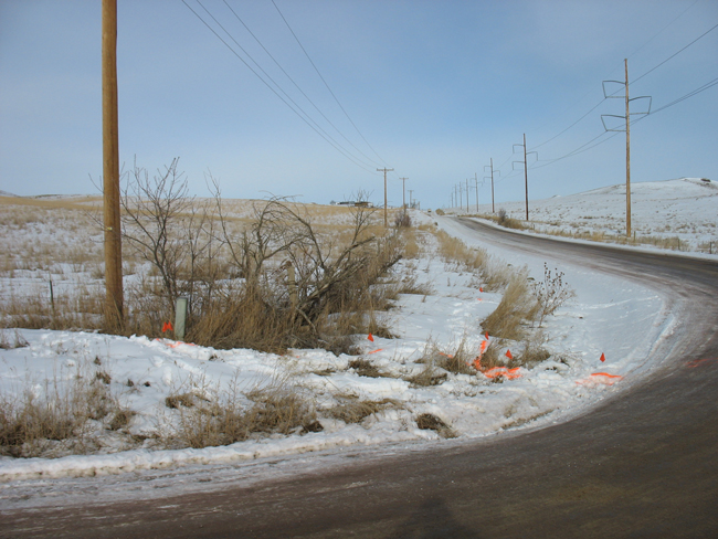 Photo of East Ridge Road before reconstruction activities