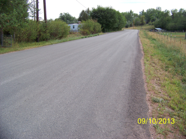 Mydland-Downer Road after reconstruction. Project rebuilt, repaved and widened the road, along with improving drainage.