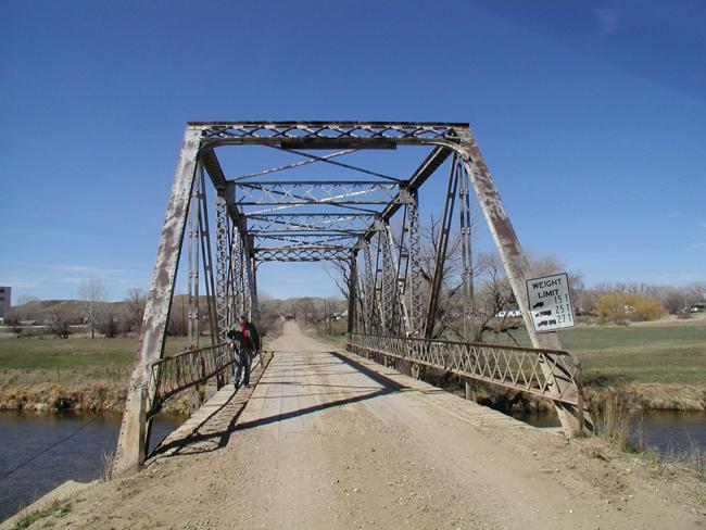 Old Thompson Creek bridge prior to replacement.
